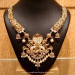 Gold Antique Kanti Necklace Design