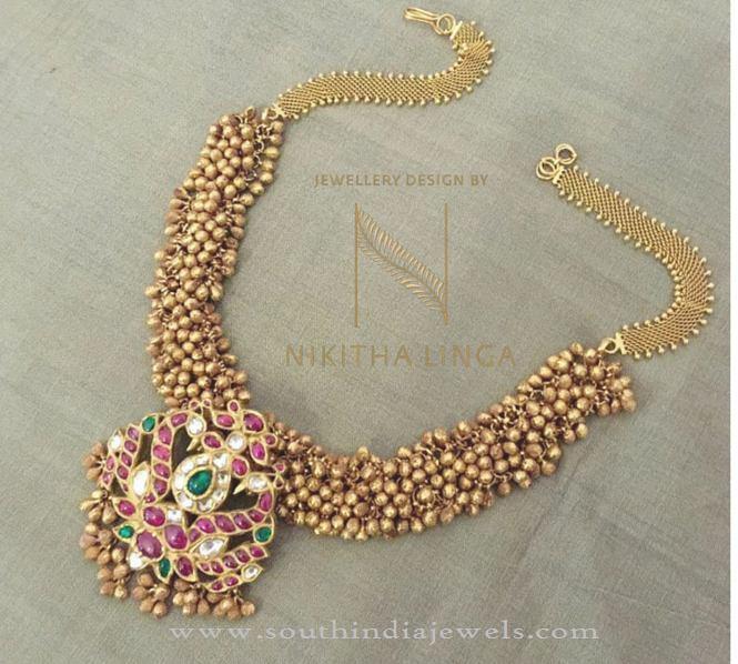 Gold Antique Necklace Designs 2016