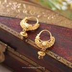 Indian Gold Hoop Earrings