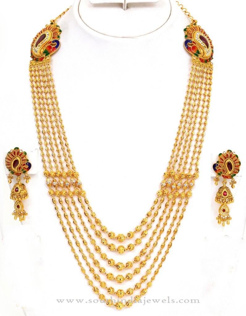 Gold Gundala Haram Designs  from Kamadenu Jewellery