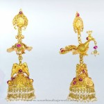 Gold Jhumka From Bhima Jewellers