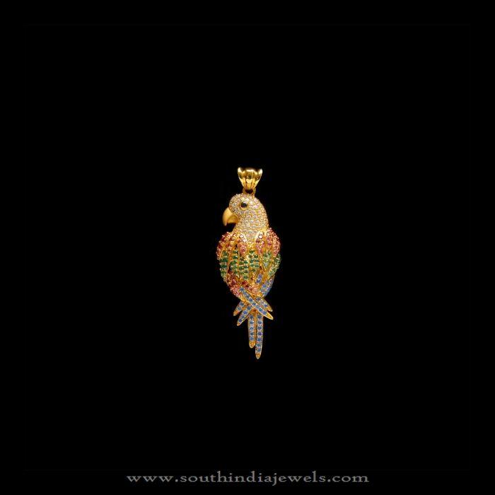 Small Gold Stone Pendants