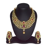 Gold Plated Kundan Bridal Necklace Design