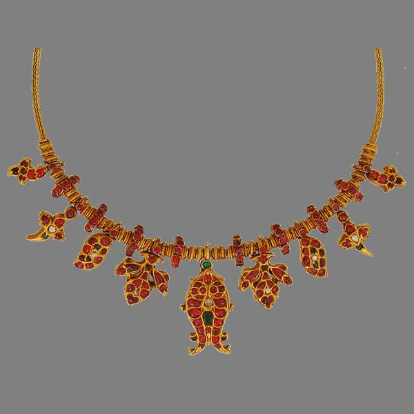 Indian Gold Ruby Necklace Designs
