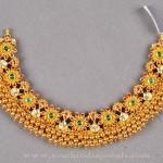 Heavy Antique Gold Choker Necklace
