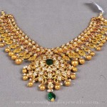 Gold Antique Necklace Design from Bombay Jewellers