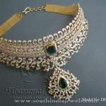 New Model Gold Diamond Choker Necklace