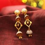 Gold Designer Rhodium Earrings
