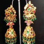 Indian Gold Jhumka Earrings