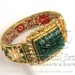 Indian Gold Meenakari Kada Bangle