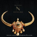 Gold Short Necklace From Nikitha Linga