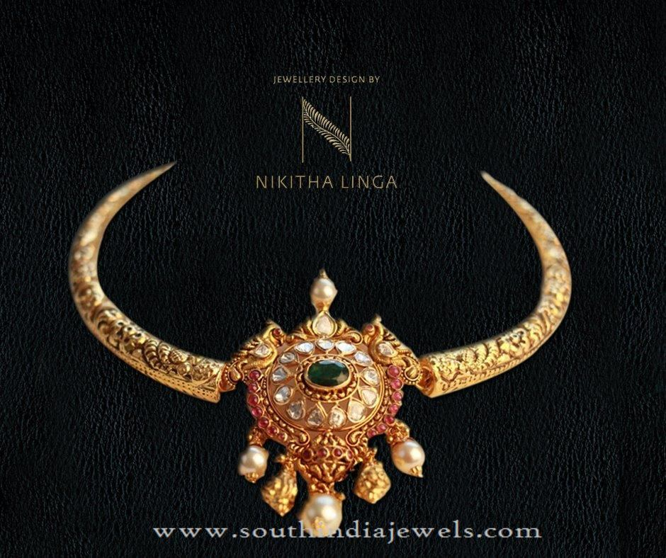 Indian Gold Necklace Design Pictures