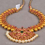 Latest Gold Ruby Antique Necklace