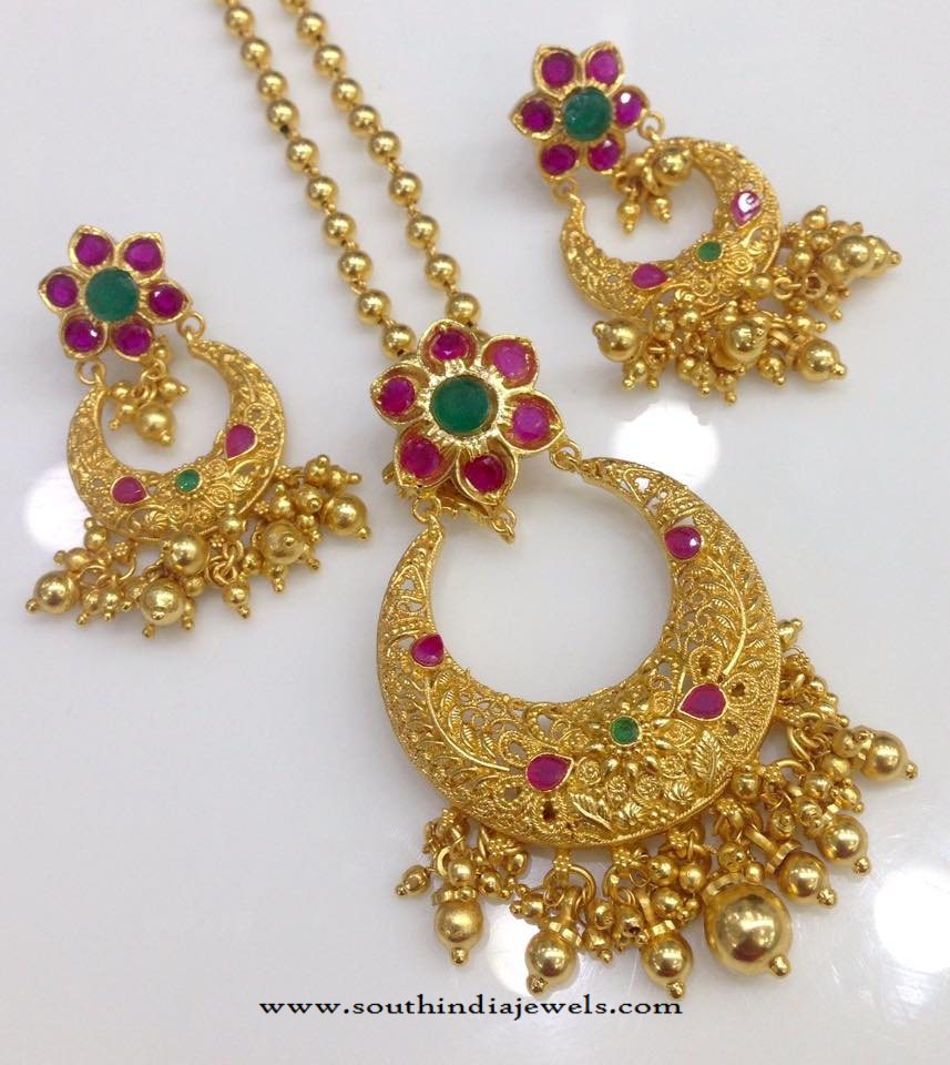 One Gram Gold Plated Chain Pendant Designs