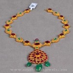 Simple Gold Antique Necklace Designs