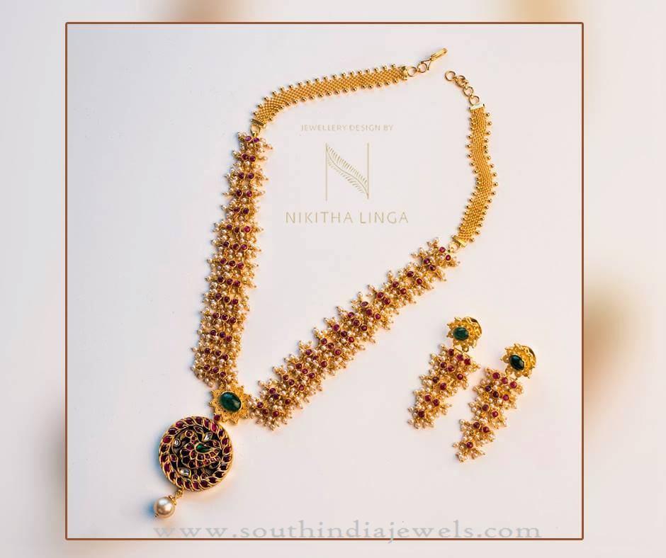 Simple Designer Gold Necklace Model