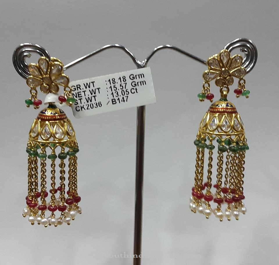 18 Gram Gold Jhumka Design