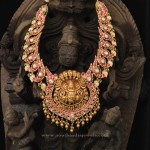 Indian Antique Gold Kemp Necklace Design