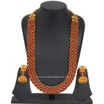 Antique Ruby Haram with Jhumka
