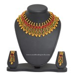 Artificial Antique Choker Necklace with Earrings