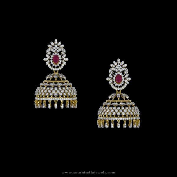 Beautiful Indian Diamond Jhumka Design