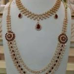 Bridal CZ Stone Necklace Set