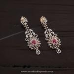 Designer Diamond Earrings with Rubies