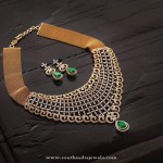 Gold Designer Diamond Necklace with Earrings