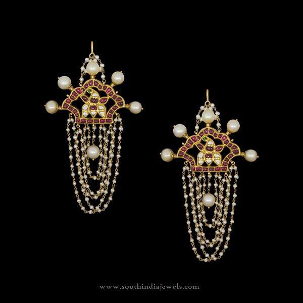 Gold Designer Earrings Hyderabad