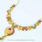 Gold Designer Statement Necklace