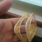 Gold Square Shaped Designer Bangle