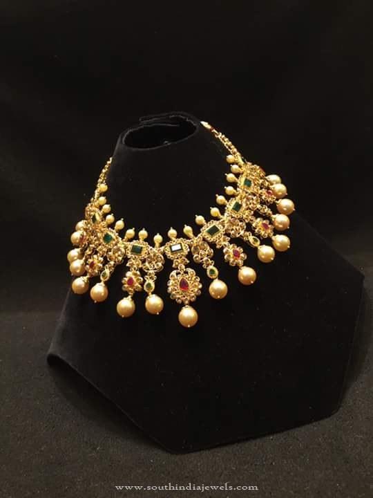 Gold Stone Choker Necklace 2016