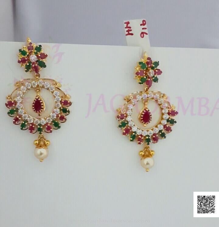 Gold Ruy Emerald Stone Earrings