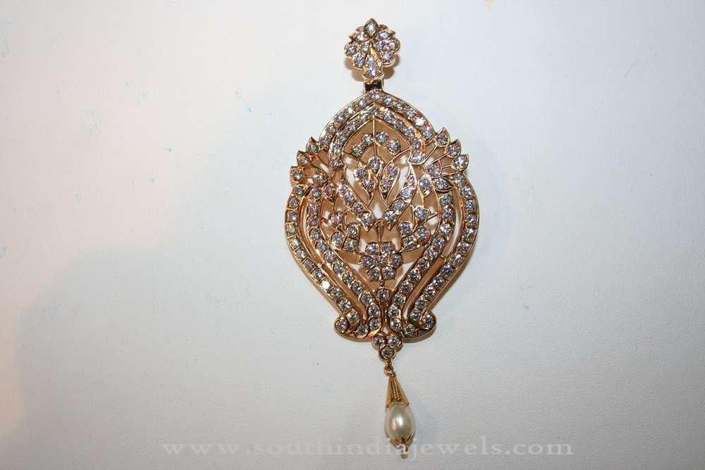 Indian Gold Stone Pendant