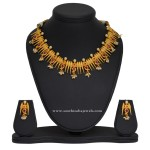 1 Gram Gold Spike Necklace and Earrings