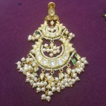 Light Weight Gold Pearl Chandbali Design