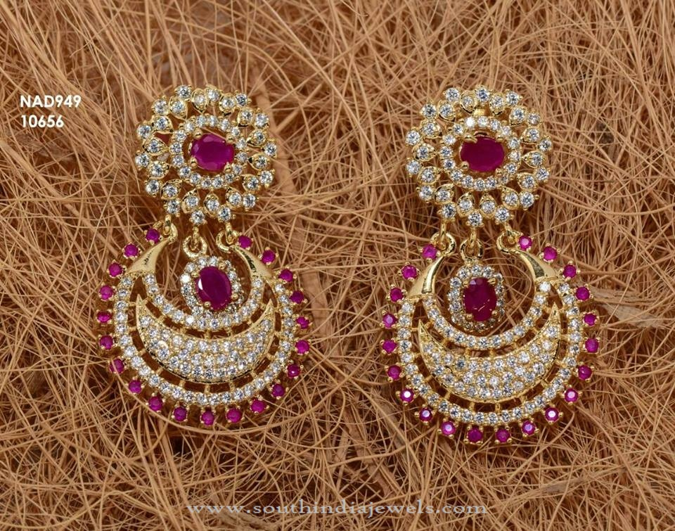 One Gram Gold Stone Earrings