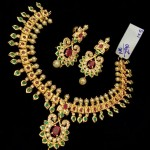 One Gram Gold Stone Necklace with Earrings