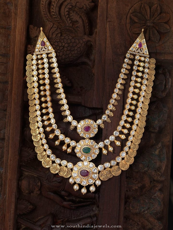 South Indian Antique Gold Jewellery Necklace Designs