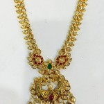 22K Traditional Gold Long Necklace Design