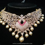 Designer Peacock Diamond Choker Necklace