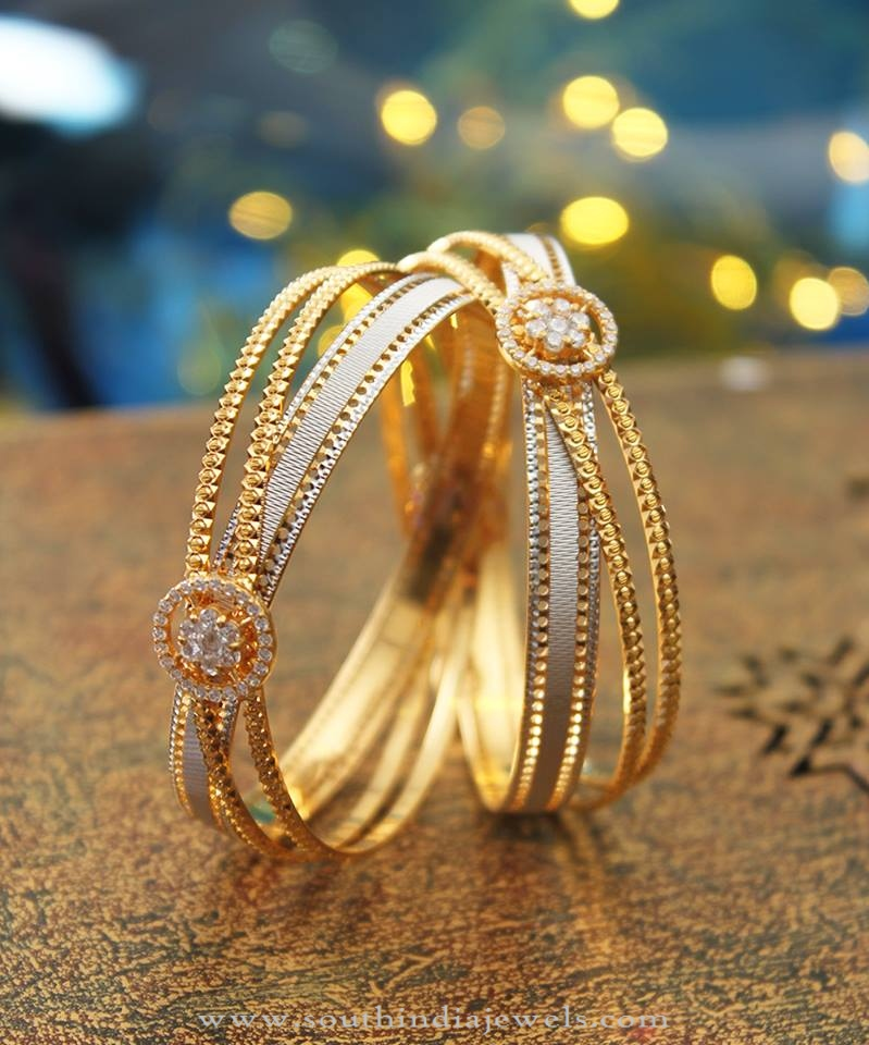 Designer Gold Bangles from Manubhai Jewellers