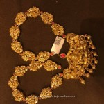 Gold Long Antique Temple Necklace