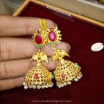 Gold Light Weight Jhumka Model
