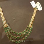 Gold Multilayer Emerald Necklace