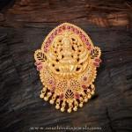 Gold Plated Pure Silver Lakshmi Pendant