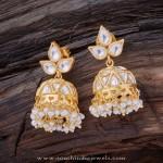 Gold Plated Silver Kundan Jhumka