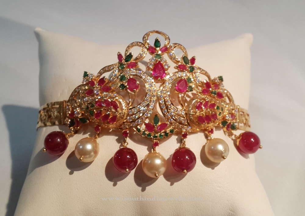 Gold Ruby Dandapatti Design