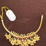 Gold Short Guttapusalu Necklace