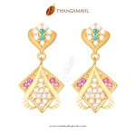 Gold Stone Earrings from Thangamayil Jewellery